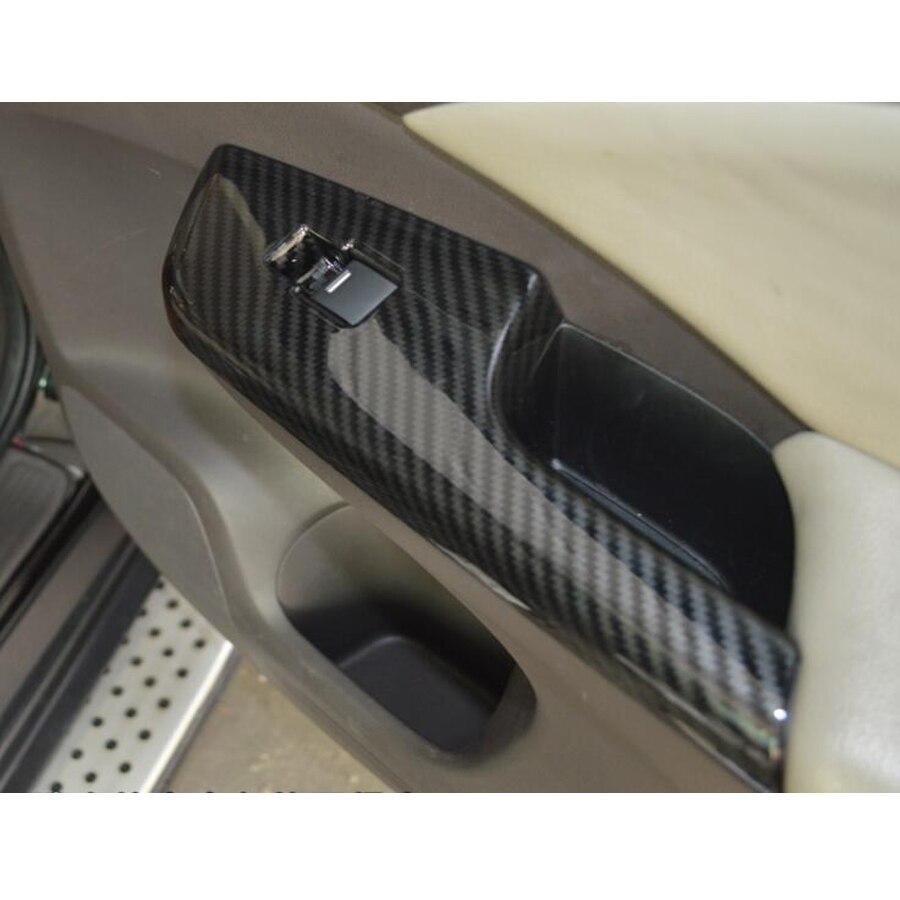 4 unids/set apoyabrazos de puerta de coche interruptor de ventana Marco de botón pegatina de cubierta embellecedora estilo bisel para Honda CRV 2012-2016 LHD