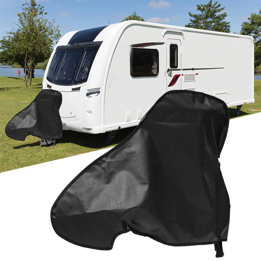 Universal PVC Waterproof Campervan & Caravan Towing Hitch Cover Trailer Rain Snow Dust Protector