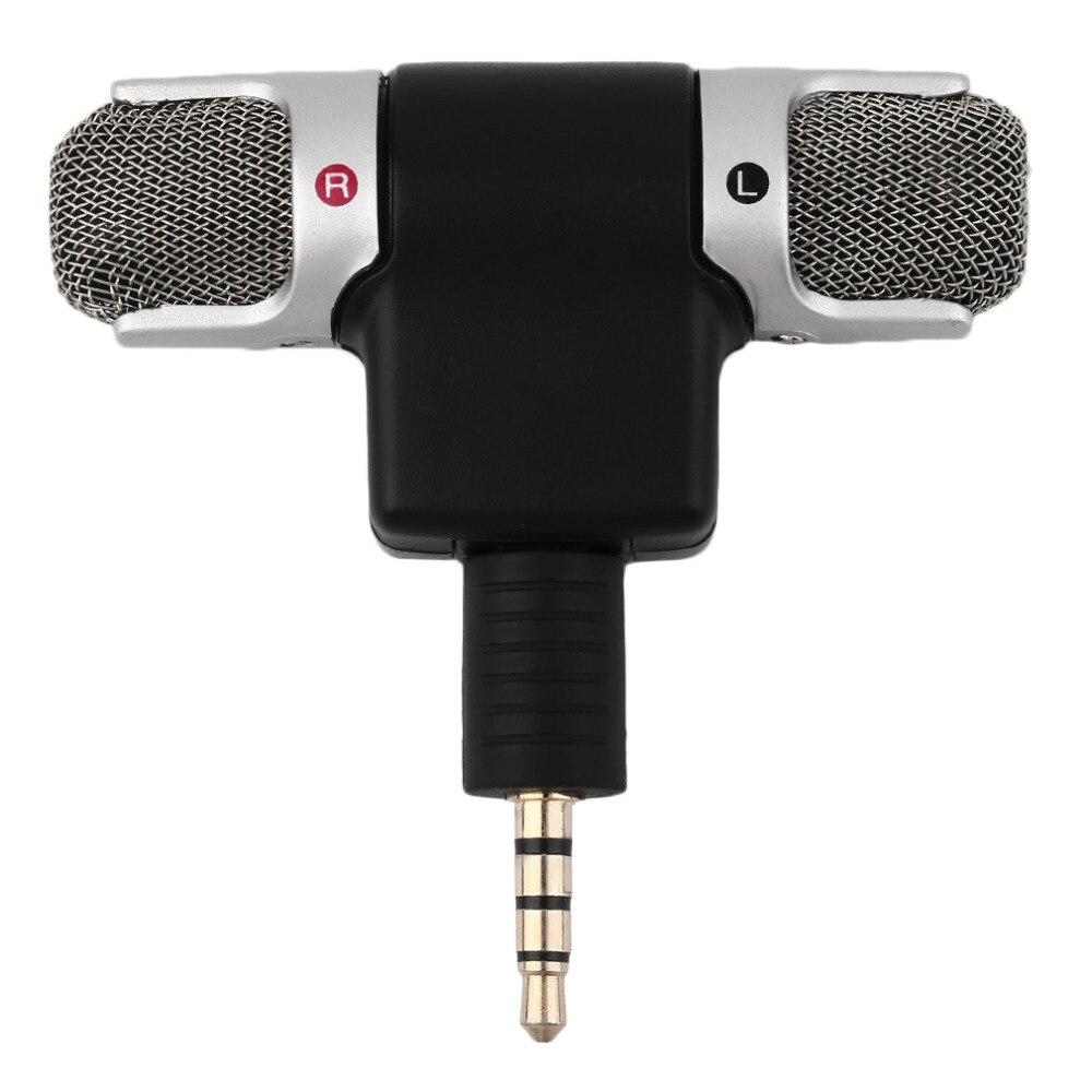 Alta calidad, 3,5mm, micrófono Mini portátil, micrófono estéreo Digital para grabadora, teléfono móvil, canciones, Karaoke
