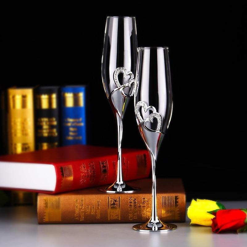 زجاجات الشمبانيا المربعة المزامير مثالية لهدايا الزفاف 1 قطعة فاخرة كريستال تحميص المزامير و كؤوس مشروبات