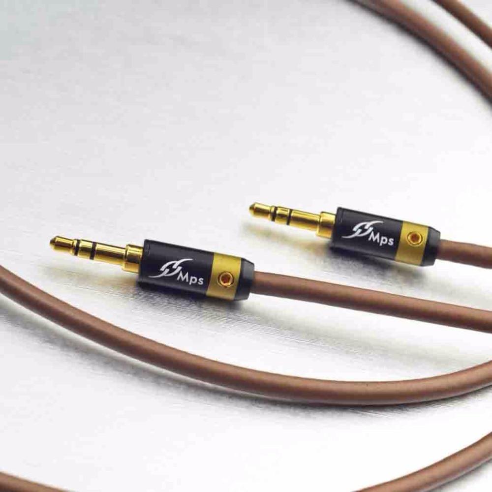 MPS X-5 Eagle Cable HiFi 99.9997% OFC + Chapado en plata 24K chapado en oro enchufe 3,5mm AUX macho a macho audio coche altavoz