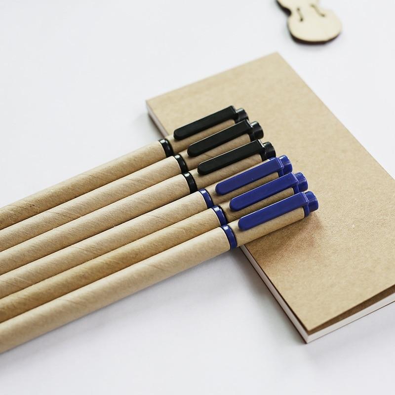 G8 kraft paper pen 0.5mm recycle Paper Eco Pen creative pen cheap wholesale