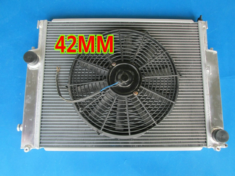 3 fila radiador de aluminio para BMW E36 M3 Z3 Serie 3 325TD 320, 323, 325, 328, 1992-1999 MT sudario Fan 93 95 96 98