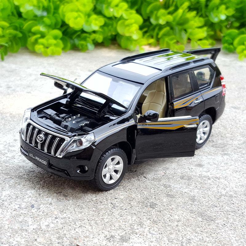 ألعاب سيارات معدنية مقلدة 1:32 ، تويوتا لاند كروزر برادو عالية الجودة ، مركبة معدنية ، تويوتا برادو الأصلية ، شحن مجاني