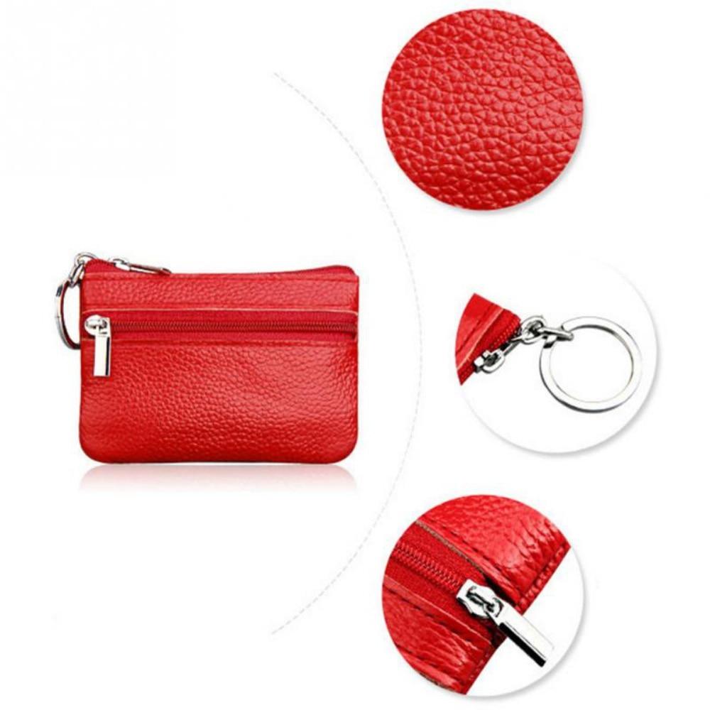 2019 New Brand Men Soft Genuine Leather Card Holder Women Coin Purse Key Holder Zip Wallet Pouch Bag Purse #P