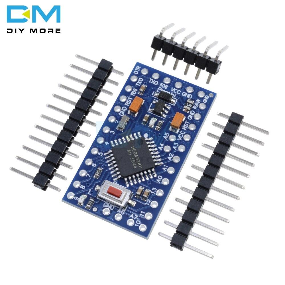 5 pces atmega328p atmega328 3.3v 8m auto-restauração pro mini módulo para arduino compatível nano 3.0 usb conectar placa substituir atmega128