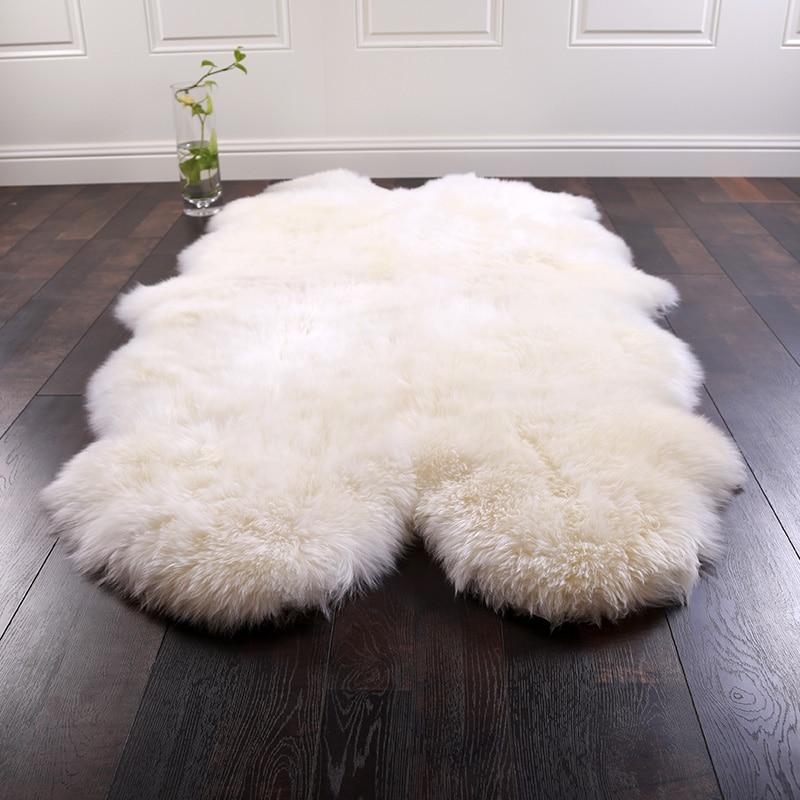 AU ناتروال الصوف السجاد الغنم سجادة صوف غرفة المعيشة غرفة نوم وسادة أريكة كرسي tapete سميكة الطابق الديكور حجم كبير
