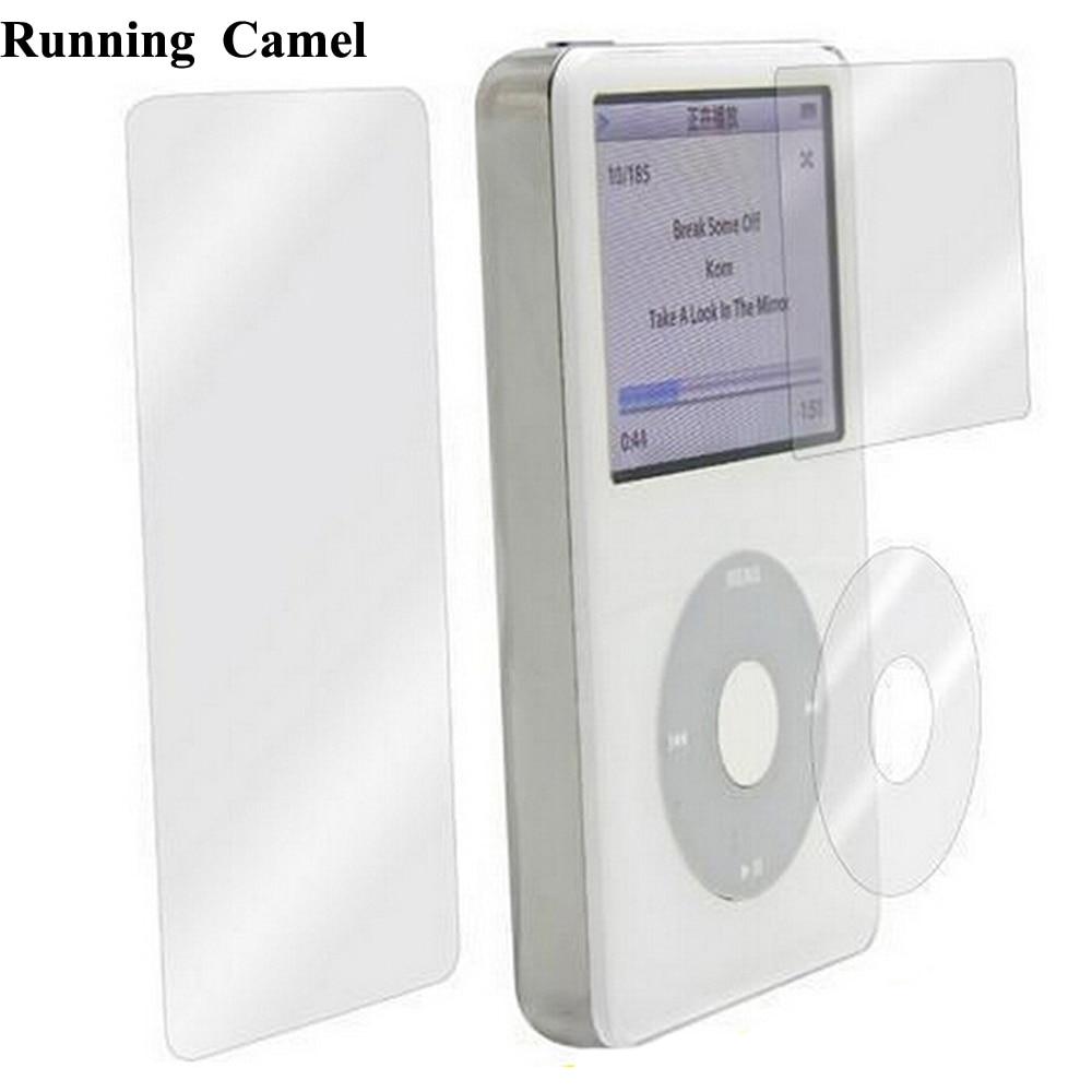 Camel en cours dexécution 2 * ensembles clair écran lentille cliquewheel couverture arrière Film protecteur pour iPod 6th gen 7th gen classique 80gb 120g 160gb