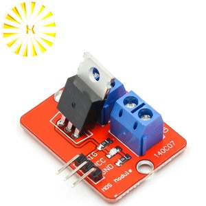 0-24V Top Mosfet Button IRF520 MOS Driver Module MCU ARM Raspberry pi Connector