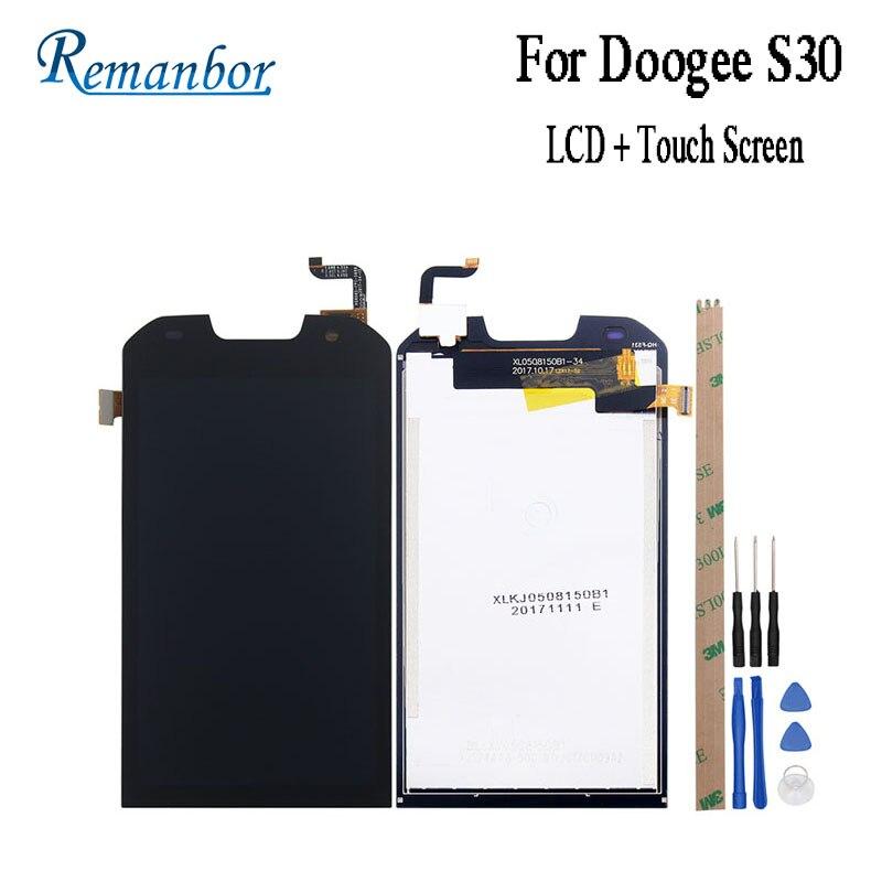 """Remanbor para Doogee S30 pantalla LCD + pantalla táctil de 5,0 """"de la Asamblea de piezas de reparación para Doogee S30 accesorios del teléfono + herramientas + adhesivo"""