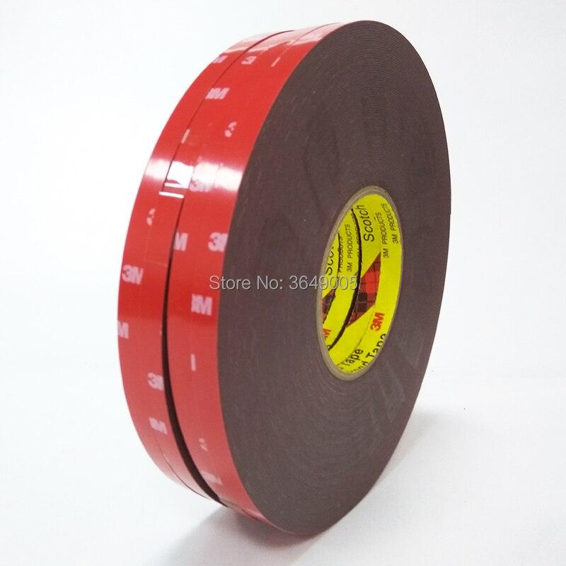 10mm * 33m 5 unids/lote 3M 4229 adhesivo con revestimiento doble espuma acrílica cinta para embellecedores exteriores automotrices, molduras laterales del cuerpo
