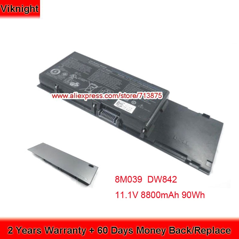 Подлинная 11,1 В 90Wh 8M039 батарея для DELL Precision M6500 батарея M6400 C565C DW842 J012F KR854 PP08X001 4P887 P267P PG474