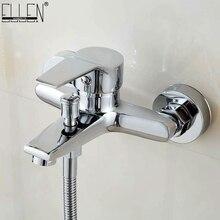 Robinet de baignoire en cascade   Mitigeur mural en laiton chromé mitigeur de baignoire-douche mélangeur deau chaude et froide FYB011