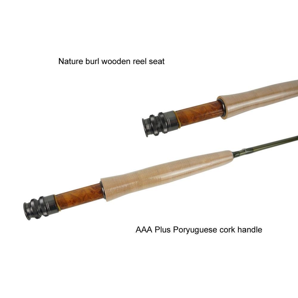 Aventik Free Shipping 7'6'' LW2, 8'0'' LW3, 8'6'' LW4 4SEC Metallic Green Freshwater Fly Fishing Rods IM12 Japan Carhon Fly Rod enlarge