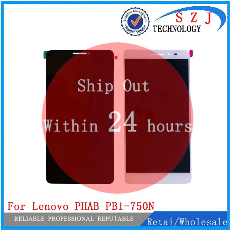 Nuevo para Lenovo PHAB 6,98 PB1-750 PB1-750N PB1-750M HGEHQY3H LCD panel de pantalla táctil de cristal digitalizador Asamblea envío gratis