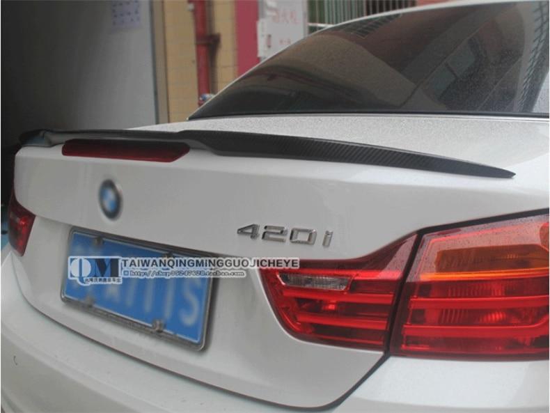 De fibra de carbono de Spoiler para BMW serie 4 F33 420, 428, 430, 435, 2014-2020 alta calidad ala trasera alerones para automóviles
