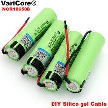 VariCore nouveau Original NCR18650B 3.7 v 3400mAh 18650 Li-ion batterie Rechargeable soudage gel de silice câble bricolage