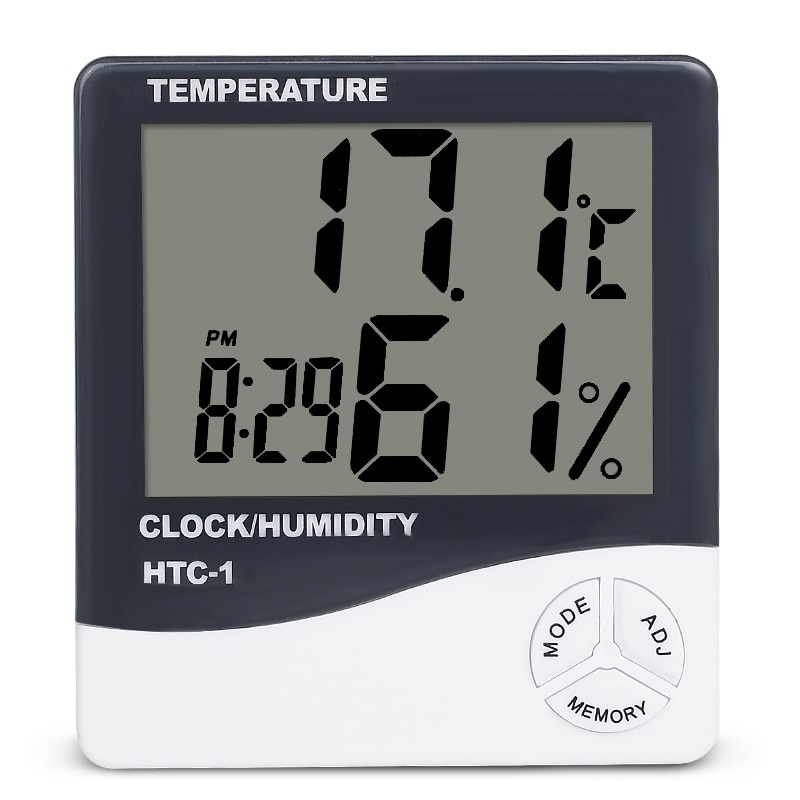 Indoor Room LCD Electronic Temperature Humidity Meter Digital Thermometer Hygrometer Weather Station