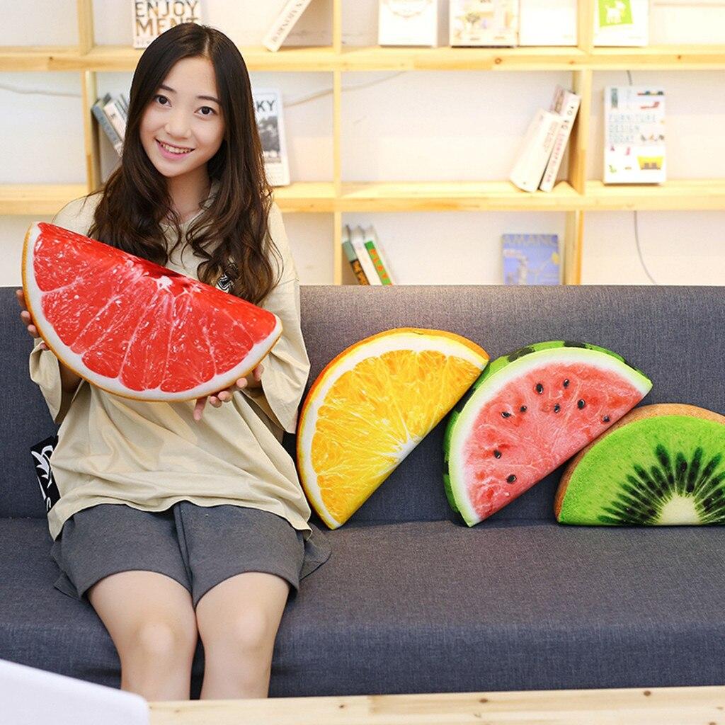 Cojín de asiento de felpa grueso, diseño de frutas 2019, almohadas en forma de fruta, funda de asiento, decoración suave y cómoda, envío directo #19813