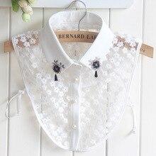 Herfst Winter Katoenen Kant Nep Kraag Shirts Kraggies Nep Black Diamonds Pruimenbloesem Hanger Valse Fshirt Kraag Stropdas China