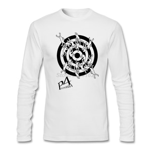 Men's Loose Casual T-shirts Websites  Persona 4 Midnight Channel Shirt T with  Mens Top Sale Long Sleeve Clothing