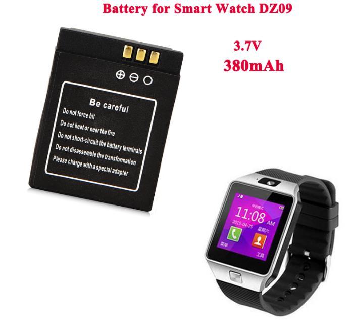 1pc 3,7 V 380mAh Akku Für Smart Uhr dz09 A1 SmartWatch Ersatz Batterie Für Smart Uhr dz09 RYX-NX9 KSW-S6