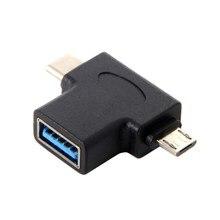 CY tipo-c USB 3,1 y Micro USB Combo A USB 2,0 A hembra OTG datos Host adaptador conector para teléfono móvil y Chrome book y Mac book