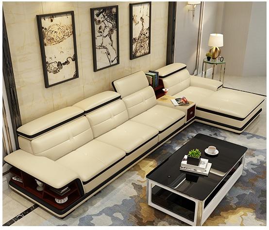 أريكة غرفة المعيشة ، تخزين ، مكبر صوت ، جلد أصلي ، أريكة على شكل حرف L ، منتفخة ، ميوبليس دي سالا ، أريكة