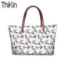 THIKIN grands sacs à main femmes chien os patte impression épaule Messenger sacs Femme Sac A Dos dames bureau affaires fourre-tout