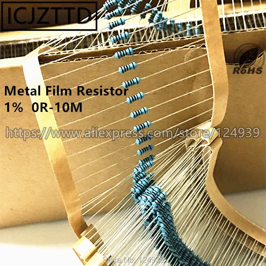 100 pcs 0.25 W 1% 1/4 W NOVO Filme De Metal 0.125 W 1% 1/8 W 1 /6 W 100R 150R 180R 200R 220R 240R 270R 300R 330R 360R 390R 430R 470R 510R