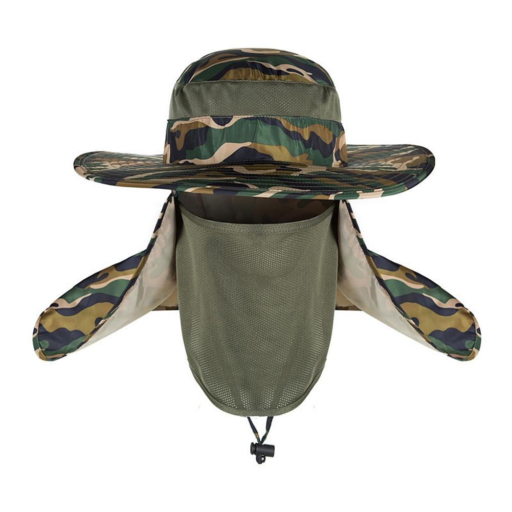 Gorro de protección UV para el sol, sombrero de pesca impermeable para exteriores, ropa de pesca para deportes al aire libre, pesca, Camping y senderismo
