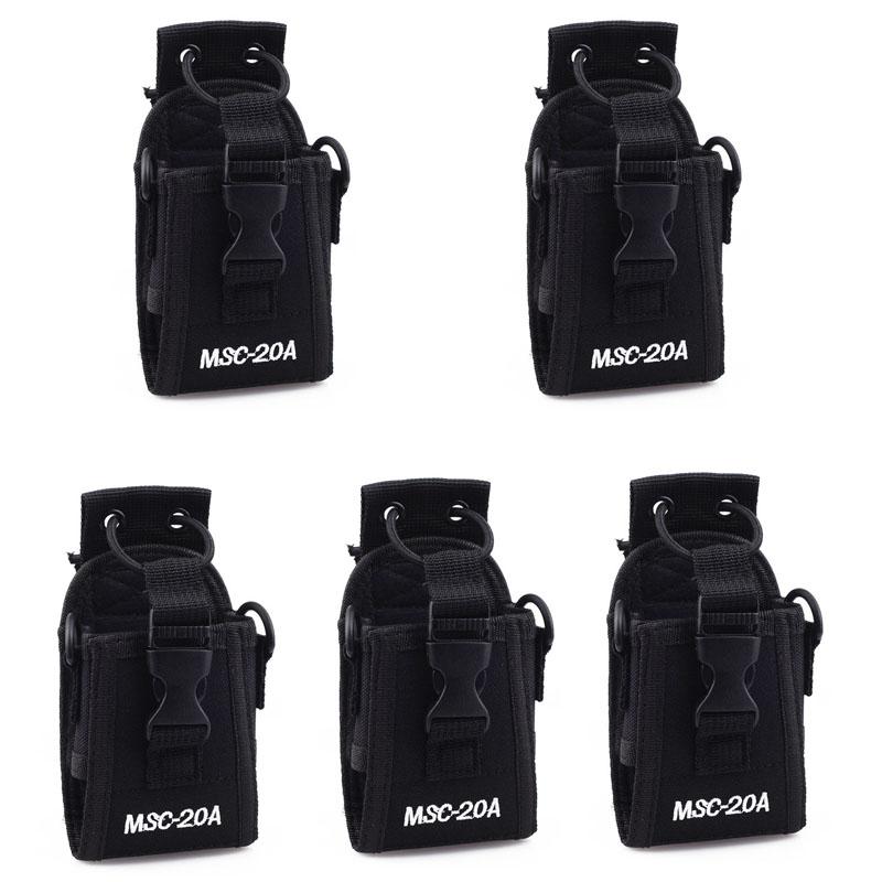 Bolsa para Motorola Gp328 + Baofeng Multifuncional Case Titular Bolsa Uv-5r Uv-b5 Uv82 Uv6 Uv8d Gt-3 A52 Walkie Talkie 5 Pçs Msc-20a