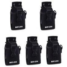 5 PIÈCES MSC-20A Multifonction Pochette Porte-Sac pour Motorola GP328 + BAOFENG UV-5R UV-B5 UV82 UV6 UV8D GT-3 A52 Talkie-walkie