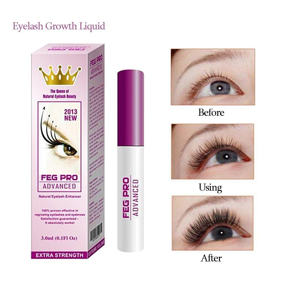 FEG profesional 3ml potenciador de pestañas nutritivo crecimiento de la pestaña del suero líquido elevador de pestañas belleza maquillaje TSLM2