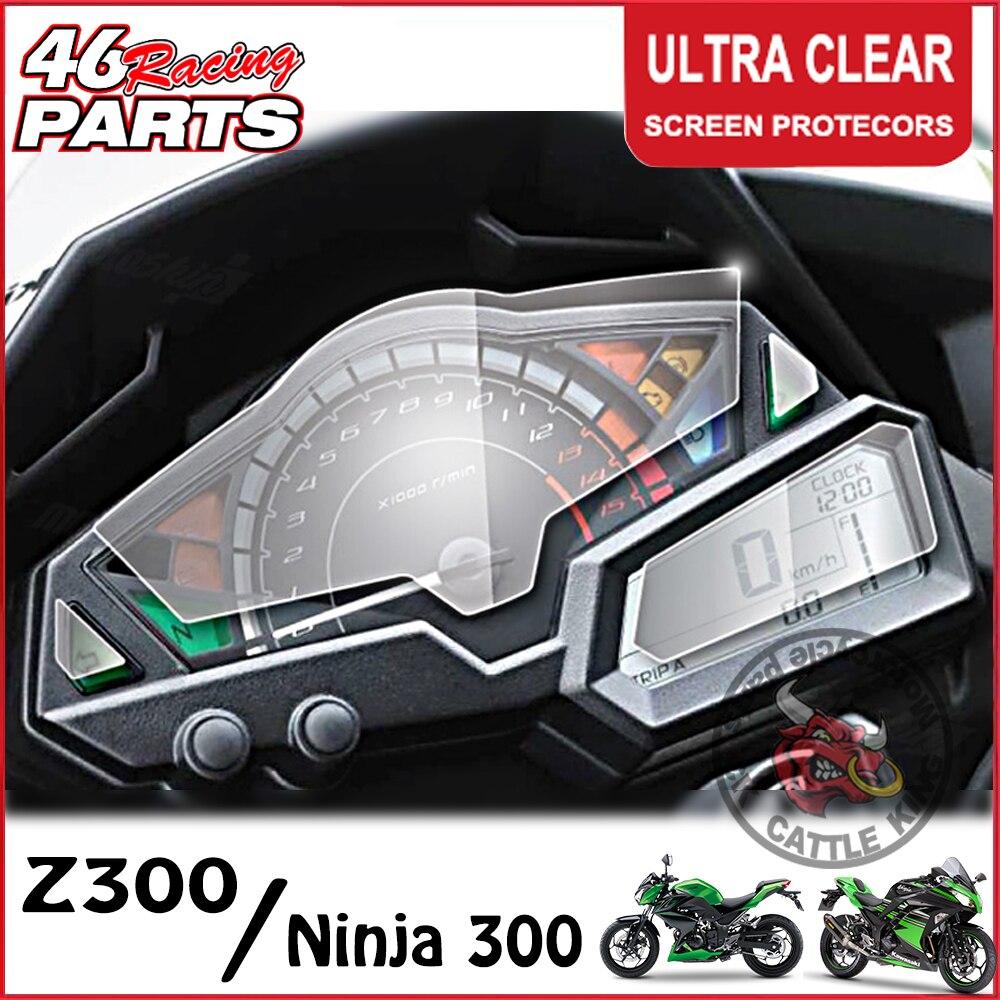 CK ganado rey clúster rascador pantalla Protector de película de protección para Kawasaki Z250 Z300 NINJA 300 NINJA300 EX300