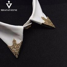 MISANANRYNE mode alliage broche motif creux col angle Palace rétro chemises col épingles femmes hommes bijoux