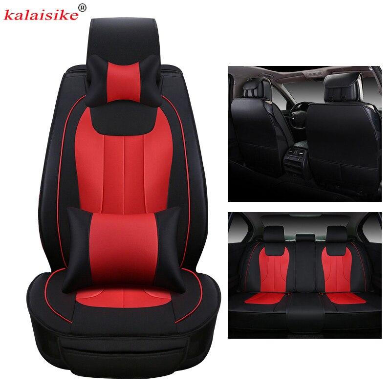 Kalaisike couro universal tampas de assento de carro para chery todos os modelos ai ruize a3 tiggo a5 e3 x1 v5 qq3 qq6 e5 qq bsg acessórios do carro