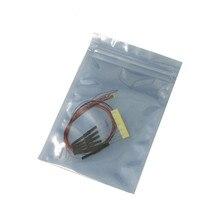 50 pièces 8 V-12 V 0402 0603 0805 1206 pré-soudées micro litz SMD LED LED filaire conduit 20 cm