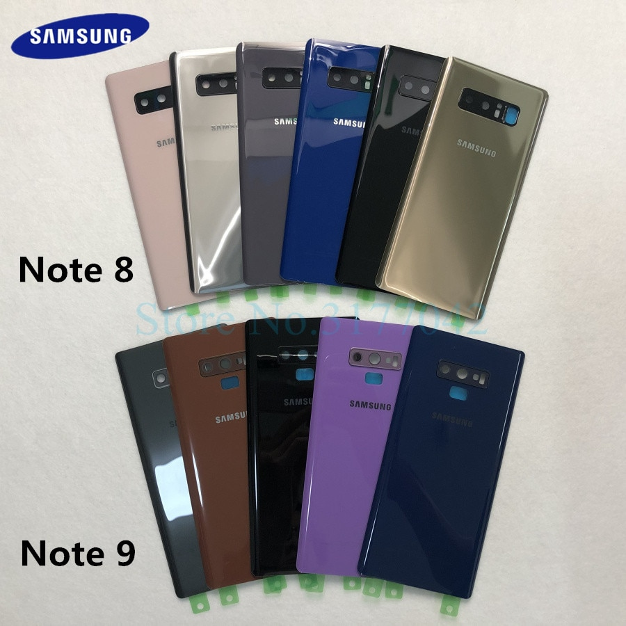 Задняя крышка аккумулятора samsung note8 note9 для samsung Galaxy Note 8 N950 SM-N950F N950FD Note 9 N960 SM-N960F задняя крышка из стекла
