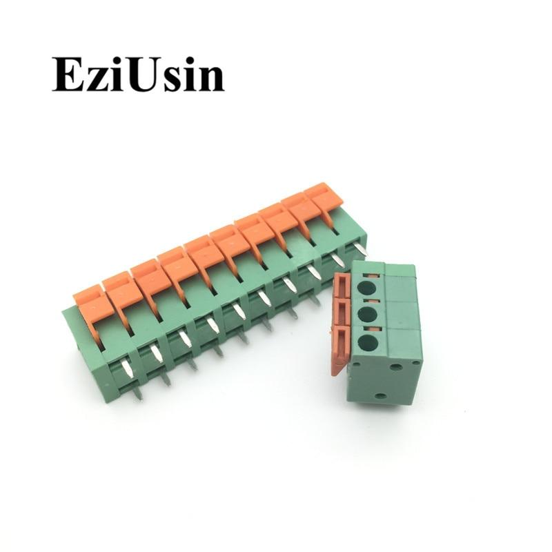 Пружинный клеммный блок CY/KF142V 142R, 5,08 мм, KF128-5.08, 2P, 3P, 4P, 5P, 6P, 7p, 8p, 9p, 10p