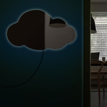 Облачное настенное зеркало, Современный домашний декор, подвесное облако, декоративное зеркало, акриловое зеркало силуэта с подсветкой