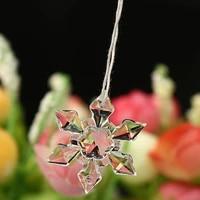 20pcspack christmas snowflake shape clear crystal acrylic rhinestone flatback cabochon diy decorative craft scrapbooking decor