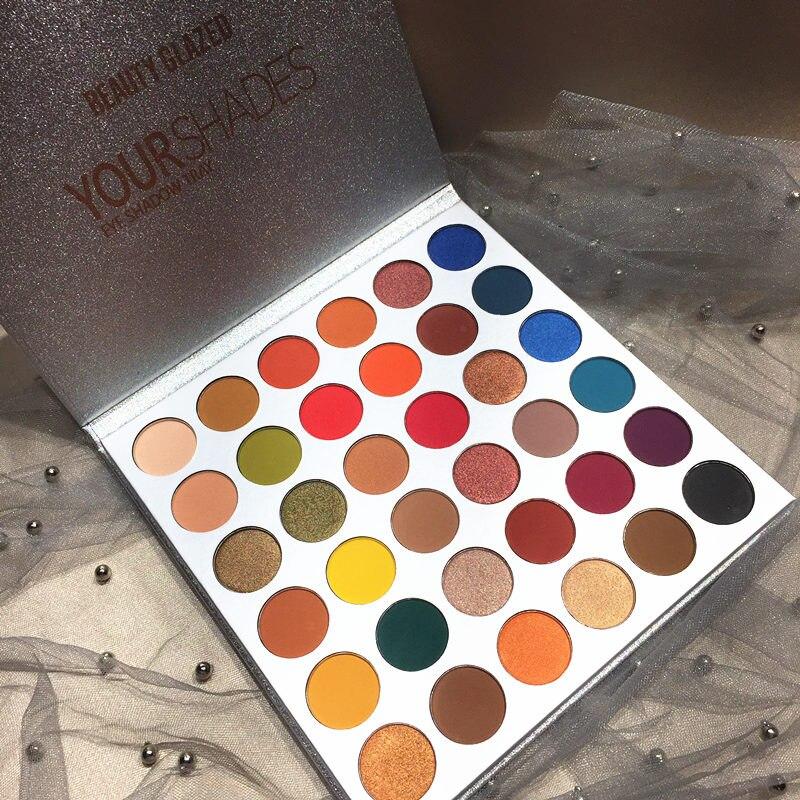 Beauty Glazed 36Color YOUR SHADES paleta de maquillaje sombra de ojos brillo mate alto pigmentos paleta de sombra de ojos duradero cosméticos