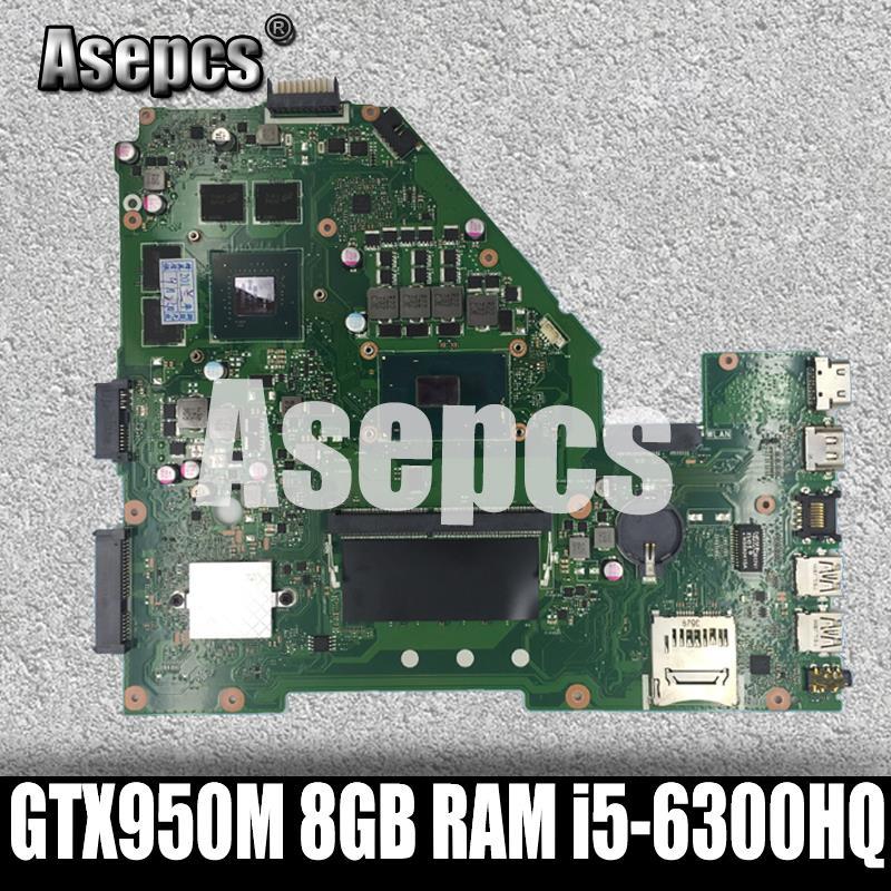 ¡X550VX MB. _ 8G/I5-6300HQ/AS X550VX placa madre Rev 2,0 para ASUS FX50V K550VX X550VX X550VQ prueba de la placa base ok intercambio!
