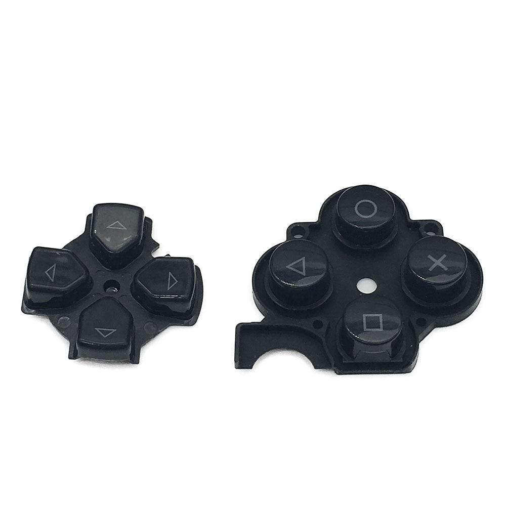 Б/у черные кнопки, сменные кнопки для ремонта для Sony PSP 3000, левые кнопки D Pad