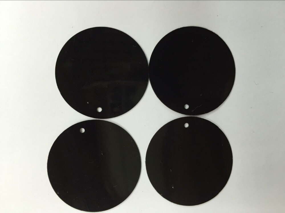 50 g/lote 25mm grande redondo lantejoulas pvc liso redondo com furo lateral vestido de dança acessório diy artesanato confetes pretos