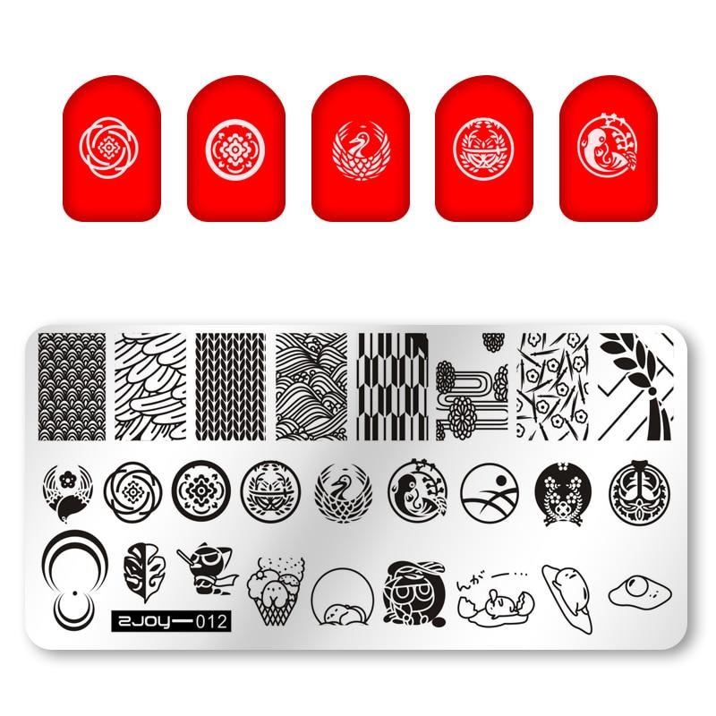 Штамп для дизайна ногтей zjoy, штамп для дизайна ногтей