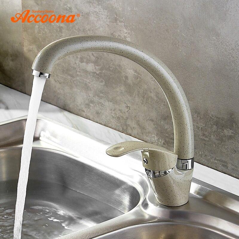 Accoona 3 Farbe Küche Wasserhahn Mischer Kaltem Und Heißer Einzigen Handgriff Schwenk Auslauf Küche Wasser Waschbecken Mischbatterie Küche Armaturen a4053