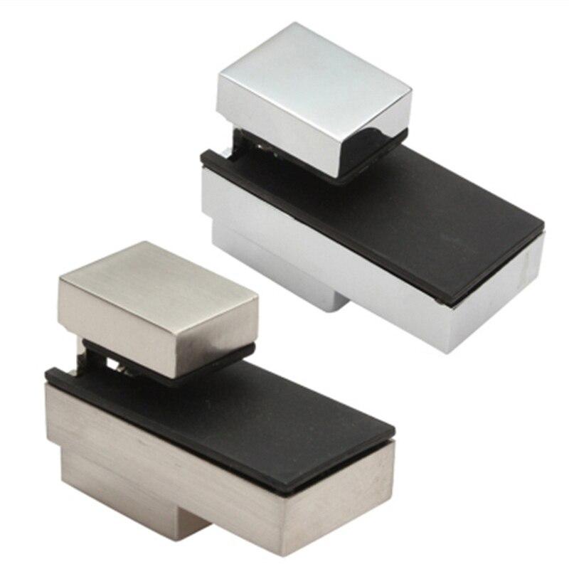 Ajustable abrazaderas de vidrio tabla escaleras estilo vidrio abrazaderas brillante/satinado acabado Zinc soporte angular de aleación para estante Clips