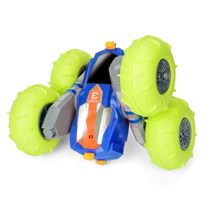 Electric Double Side Deformation Off-Road Remote Control Car 1:16 Pneumatic Tyre 360 Degree Rotation Skip Stunt RC Car with Pump enlarge